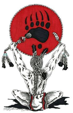 Items similar to Bear Clan: Traditional Native American Art 5 x 7 Print on Etsy Native American Tattoos, Native American Warrior, Native American Pictures, Native American Artwork, Native American Symbols, American Indian Art, Native American History, Native American Indians, American Women