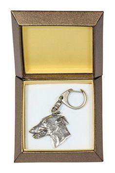NEW Kerry Blue Terrier DELUXE set necklace and clipring in casket limited edition dog keyring Dog keyring for dog lovers ArtDog