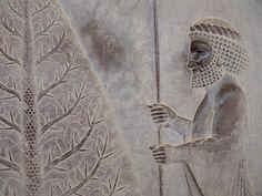 Bas-Relief on Abadana Staircase - Persepolis - Central Iran - 02 by Adam Jones on Sculpture Art, Sculptures, Shiraz Iran, Achaemenid, Ancient Persia, Ancient Aliens, Ancient Civilizations, Ufo, Archaeology