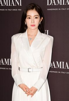 'Irene' of girl group Red Velvet poses at a promotional event for a jewelry brand in Seoul on Tuesday. Seulgi, Kpop Fashion Outfits, Womens Fashion, Red Velvet Photoshoot, Nice Dresses, Girls Dresses, Bad Boy, Red Velvet Irene, Velvet Fashion