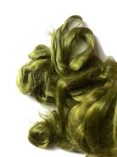 Ramie Roving : Ramie fibers in tones of Olive by DivinityFibers