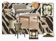Whimsical dining room mood-board