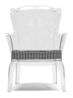 Phantom Clear Accent Chair