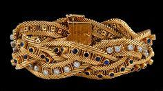 VAN CLEEF & ARPELS Diamond & Sapphire Bracelet - Yafa Jewelry