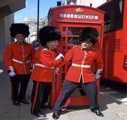 Royal themed mime Artist for hire. Royal themed entertainment options. For hire in London and the UK.