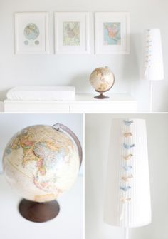 traveling themed nursery...i could dig it.