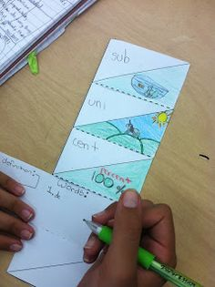 Root words lesson with Laura Candler's vocabulary foldable