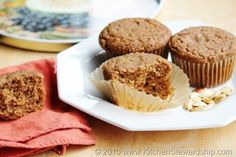 Simple, easy one-bowl healthy pumpkin muffins...perfectly moist, whole wheat pumpkin muffins or bread recipe. Easy no white sugar options too.