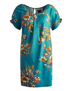 £34.95 Joules Joules Outlet Womens Tunic Dress, BLUFLOR. Summer has truly been captured in this stunning floral-print tunic top. Finished with a gathering of pleats to the front and a beautiful keyhole fastening.