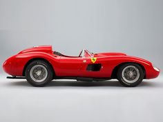 The 1957 Ferrari 335 S Spider Scaglietti was once driven to victory by British World Champion Stirling Moss at the 1958 Cuban Grand Prix. Maserati, Bugatti, Carros Ferrari, Ferrari Laferrari, Ferrari Logo, Messi, Most Expensive Car Ever, Expensive Cars, Porsche Classic
