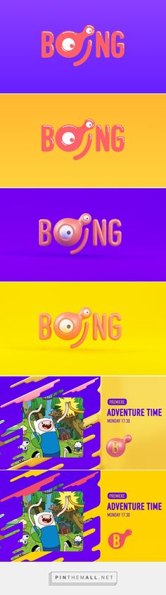 Boing Channel Rebrand on Behance - created via https://pinthemall.net