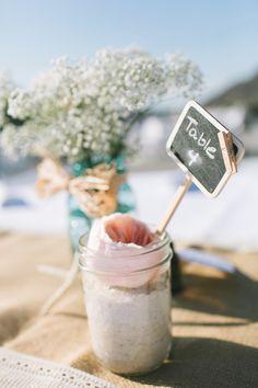 Mason Jar Wedding Centerpiece - Rustic Chic Wedding#valentines day