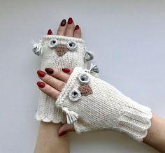 White Fingerless, Arm warmers, Fingerless knitted gloves, Warm fingerless gloves – # Arm warmers Free Knitting Pattern for Yinyang Kitty Socks – Toe Side Socks with … – Knitting 2019 trend Crochet Gloves Pattern, Baby Knitting Patterns, Hand Knitting, Crochet Patterns, Fingerless Gloves Knitted, Knit Mittens, Knitting Accessories, Etsy Shop, White Gloves