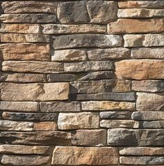 Valley City Supply offers a huge selection of manufactured ledge stone veneer products for the interior or exterior of your home or commercial building that is thinner and varying in height. Fireplace Wall, Fireplace Design, Fireplace Ideas, Brick Garden Edging, Manufactured Stone Veneer, House Siding, Patio Makeover, Garden Landscape Design, Faux Stone