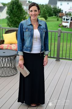 Fall Fashion Over 40 - how to wear a maxi skirt into fall