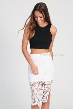 odette lace skirt - white | Esther clothing Australia and America USA, boutique online ladies fashion store, shop global womens wear worldwide, designer womenswear, prom dresses, skirts, jackets, leggings, tights, leather shoes, accessories, free shipping world wide. – Esther Boutique