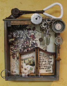 Junk Drawer Series 3 - Kathy Moore Assemblage Artist