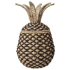 Great house warming gift! Pineapple means 'welcome'. -Nate Berkus Woven Pineapple Decorative Container from Target