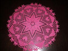 Pink Hearts & Diamonds Doily by brisbane_june, via Flickr
