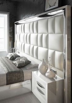 40 Fabulous Headboard Designs For Your Bedroom Inspiration - Adorable 40 Fabulous Headboard Designs For Your Bedroom Inspiration - Bedroom False Ceiling Design, Luxury Bedroom Design, Master Bedroom Interior, Bedroom Closet Design, Bedroom Furniture Design, Bed Furniture, Furniture Layout, Interior Design, Furniture Makeover