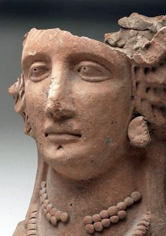 Etruscan Bust of a Woman, ex-Ariadne, Italy, Etruria, ca. Ancient Egyptian Art, Ancient Aliens, Ancient Rome, Ancient Greece, Ancient History, European History, Art History, American History, Ancient Artefacts