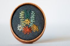 Embroidery brooch: just beautiful