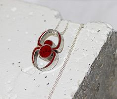 Spider Pendant / Necklace  Stainless Steel by BootyHeartJewelry, $78.00
