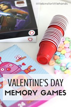Simple Valentine's Day memory games and matching activities for kids. Quick Valentines Day activity kids can do together. Fun Valentine  idea for toddlers, preschoolers, and kindergarten age kids!