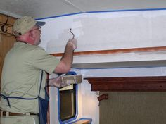 RVHobby Necessary steps to painting vinyl walls of an RV wall, sounds so hard! lol, i definitely not confident to do this, but love the idea link pin now read later Rv Campers, Camper Trailers, Camper Hacks, Rv Trailer, Rv Hacks, Travel Trailers, Camping Glamping, Camping 101, Camping Ideas