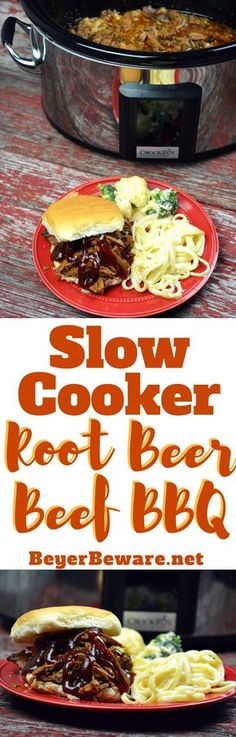 This slow cooker root beer beef bbq recipe is the perfect combination of sweet and heat with a hint of smoke to leave yoursummer BBQ cravings satisfied.#BBQ #beef #slowcooker #crockpot #crockpotrecipes