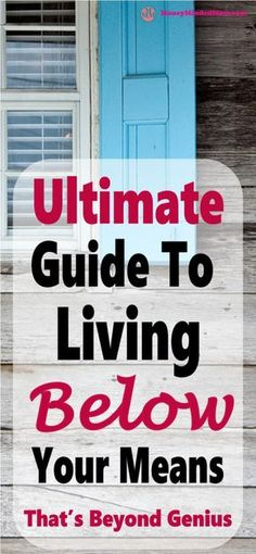 LIVING BELOW YOUR MEANS - A COMPLETE GUIDE ~ Living below your means is a must in your overall financial health. It is key to every single aspect of your finances from managing your money and budget, to living a stress free and happy life. Read on to lear Ways To Save Money, Money Tips, Money Saving Tips, Money Plan, Budgeting Finances, Budgeting Tips, Faire Son Budget, Genius Ideas, Living Below Your Means