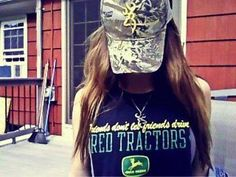 Girls don't let friends drive red tractors
