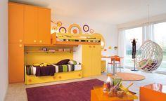 Children's Room Decorating Ideas Photos: Amazing Children's Room Decorating Ideas With Bed With Cabinet Set And Glass Door At Modern Children Bedrooms ~ jsdpn.com Kids Room Designs Inspiration