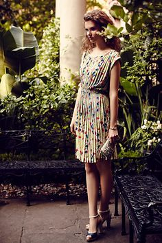 pleated dress- lovely summer dress