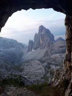 Taken from an old tunnel in the Dolomite Mountains in Italy : travel Great Places, Places To See, Beautiful Places, Amazing Places, Mountains In Italy, Easy Jet, Visit Italy, Wanderlust Travel, Nature Photos