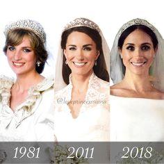 ▪️Royal Wedding✨▪️ 1981 - 2011 - 2018 Diana - Kate - Meghan #MyQueenDianaForever #LovePrincessDiana #PrincessDiana #PrincessofWales…