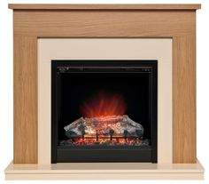 Be Modern Blakemere LED Electric Fire Suite | Departments | DIY at B&Q
