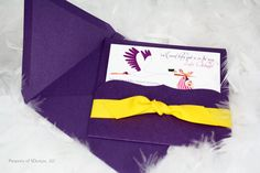Baby Shower Invitation - Stork and flowers design. $4.00, via Etsy.
