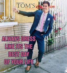 Always believe in yourself. #TomsFashion #mondaymotivation #suits #customtailors