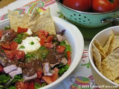 ... and Easy Refried Black Bean Dip with Tomatoes, Onions, and Cilantro