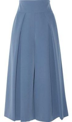 Milly Cropped Pleated Cady Culottes