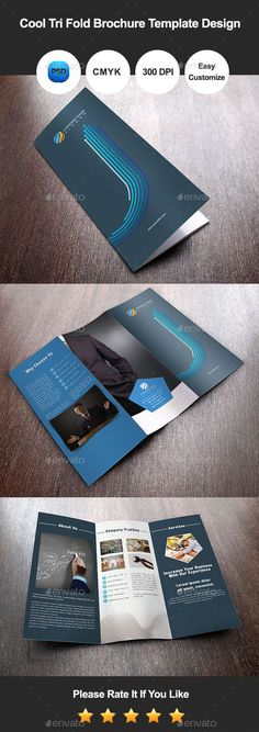 Cool Tri Fold Brochure Template Design — Photoshop PSD #energy #school • Available here → https://graphicriver.net/item/cool-tri-fold-brochure-template-design/9451366?ref=pxcr