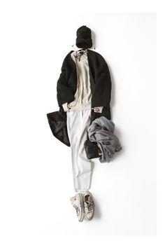 ラフに着たいブラック&ホワイト