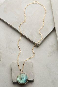 Rounded Labradorite Pendant Necklace - anthropologie.com