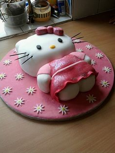 hello kitty birthday cake by cake the whole cake and nothing but the cake, via Flickr
