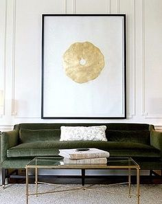 Should A Sofa Be Placed Up Against A Wall? Hereu0027s Your Answer... Green  Velvet ...