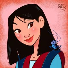Disney Art: Mulan by Dylan Bonner:) Disney Fan Art, Disney Pixar, Disney E Dreamworks, Punk Disney, Disney Girls, Disney Magic, Disney Movies, Walt Disney, Disney Characters