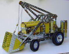 Pages Meccano de Rémi : Benne-pelleteuse automobile (Lifting Shovel) Automobile, Benne, Hobby Toys, My Childhood Memories, Shovel, Vintage Toys, Cnc, Lego, Hobbies