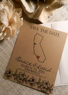 Destination Wedding Save the Date - Eco friendly SAMPLE on Etsy, $1.50