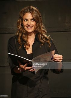 Stana Katic is the latest actor to perform in the new play 'White Rabbit Red Rabbit' (each week has a unique new guest star & benefits PEN International which supports writers living under hostile governments around the globe) at The Westside Theatre on September 26, 2016 in New York City.
